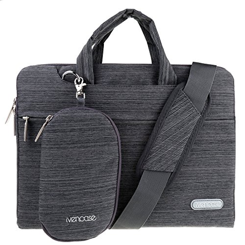 ivencase Laptop Shoulder Bag Suit Fabric Portable Briefcase Case for all 13-13.3 inch Tablet / Notebook / Computers - Macbook Pro 13'' / Macbook Air 13''/ Macbook Pro retina display 13'' - Dark Gray - Acer 27 All In One