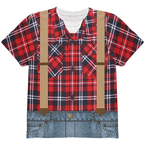 Halloween Lumberjack Costumes (Halloween Lumberjack Costume All Over Youth T Shirt Multi YLG)