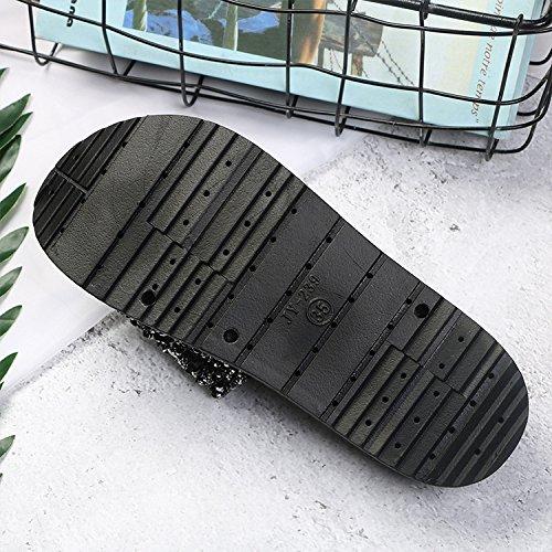 Slip Femmes Outdoor Word Pantoufles Plage 37 pour Sandales 36 Sandales WordBlack GUANG Slip XING Et Fashion Wild De Herringbonesilver Femmes Pantoufles CqZB6
