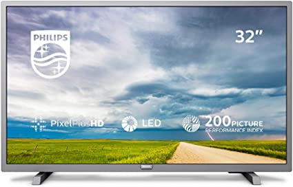 Philips 32PHT4504/05 32-Inch HD Ready LED TV with Freeview HD - Silver (2019/2020 Model) [Energy Class A+]