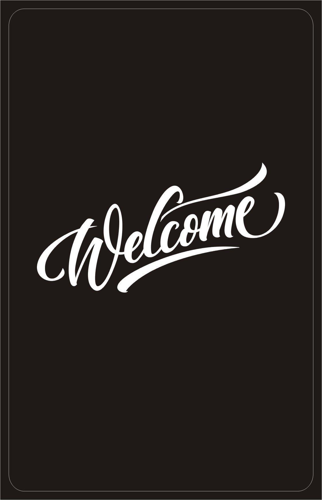 RFID GENERIC PVC CARD 1K 13.56 MHZ RFID key card Black''WELCOME''