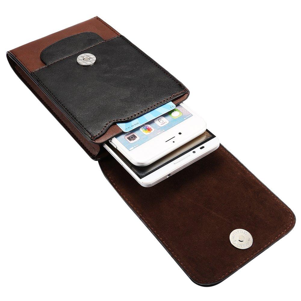 LORDWEY/® 6.5 Zoll Leder Kleine Herrentasche Mini Messengertasche Mann Umh/ängetasche Messenger Bag Handy G/ürteltasche mit Viele Rei/ßverschluss F/ächer//Clip