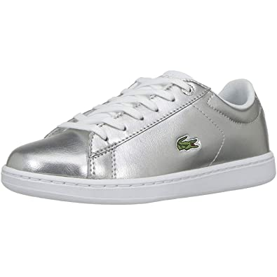 Lacoste Carnaby EVO 318 2 Silver Synthetic Infant Trainers  Amazon.es   Zapatos y complementos 840e277eab