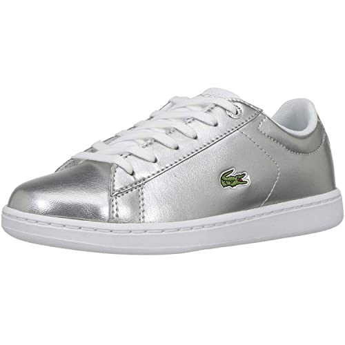 c60ec5fd772e7e Lacoste Carnaby Evo 318 2 Silver Synthetic Infant Trainers  Amazon ...