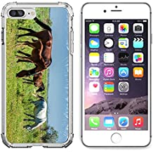 Luxlady Apple iPhone 6 Plus iPhone 6S Plus Clear case Soft TPU Rubber Silicone Bumper Snap Cases iPhone6 Plus iPhone6S Plus IMAGE ID 30717326 Horses in the mountains equine nag hoss hack dobbin a soli