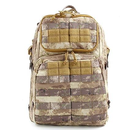 DFHHG® Táctica de ataque mochila Ejército fans al aire libre hombros mochila masculino impermeable CS