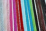 "LaRibbons Polka Dot Grosgrain Ribbon, 3/8"", 16 Colors"