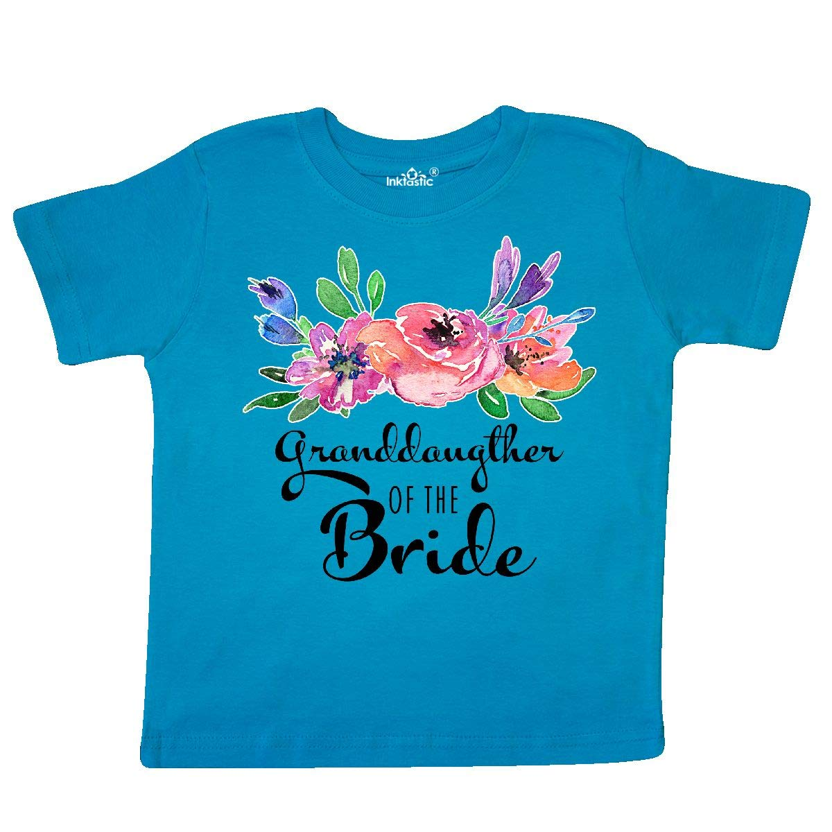 inktastic Granddaughter of The Bride with Bouquet Toddler T-Shirt