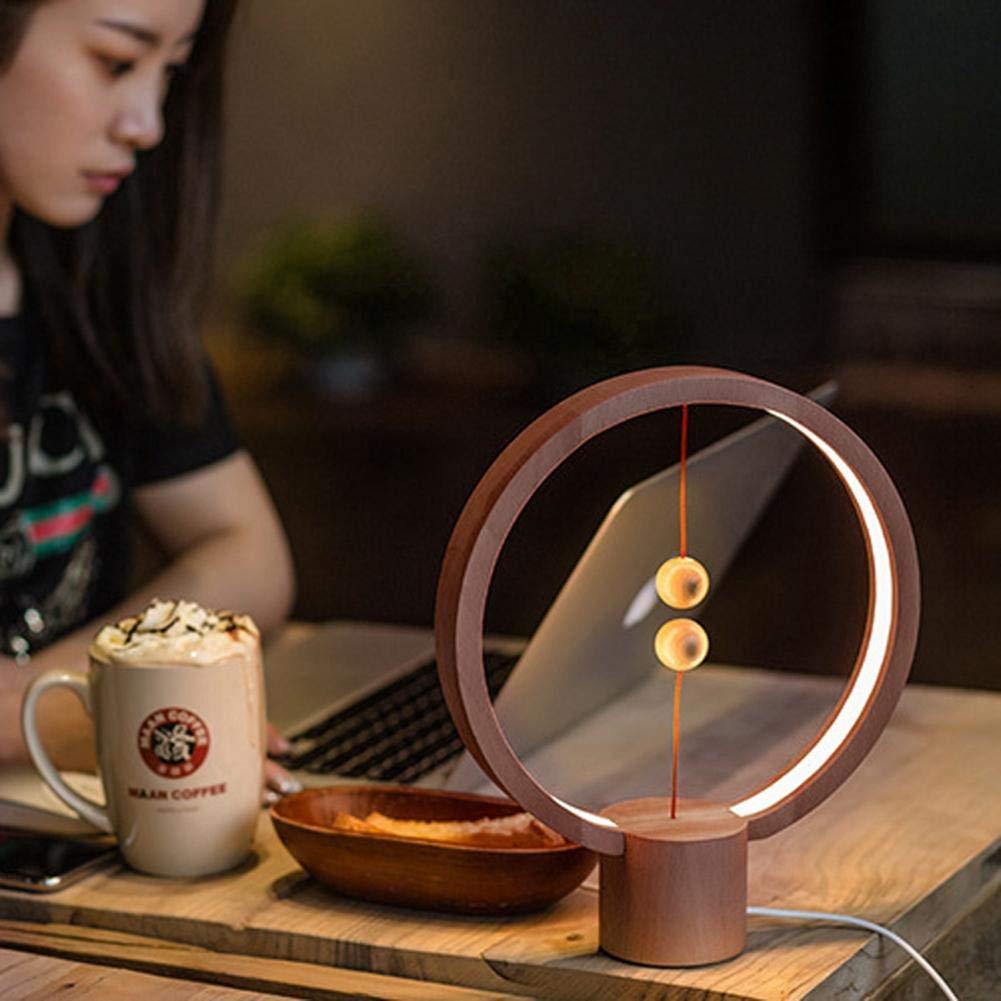 B/üro Neue 2018 Magnetic Air LED Tischleuchte blanc Heng Balance Lampe Wohnzimmer Augenpflege-Lampe im modernen Design f/ür Schlafzimmer USB-betriebenes Nachtlicht