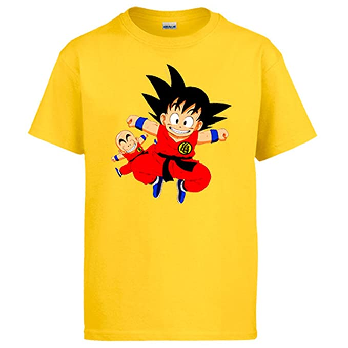 Diver Camisetas Camiseta Dragon Ball Goku y Krilin: Amazon.es: Ropa y accesorios