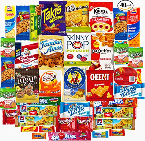Ultimate Sampler Care Package (40 Count) - Assortments of Snacks, Chips, Cookies, Bars, Candies, Nuts Great Easter Care Package for Family and Friends -Huevos de Pascua]()
