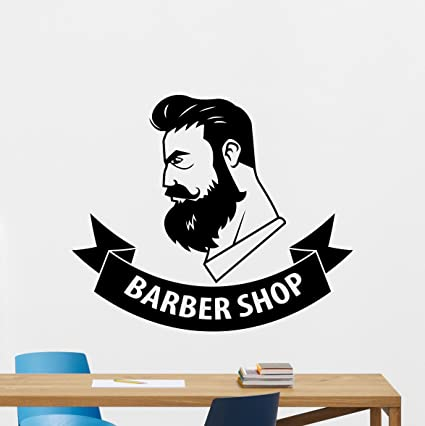 Barbershop Wall Decal Stylist Hairdressing Scissors Hairbrush