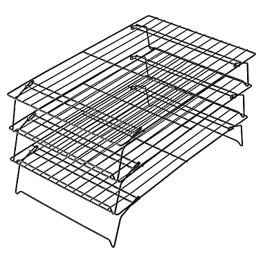 Wilton Advance Select Premium Nonstick 3-Tier Cooling Grid in Gunmetal