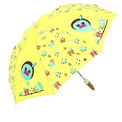 QI FANG BUSINE Paraguas Plegables Sombrilla Sombrilla para niños Sombrilla semiautomática Sombrilla para niños con Mango