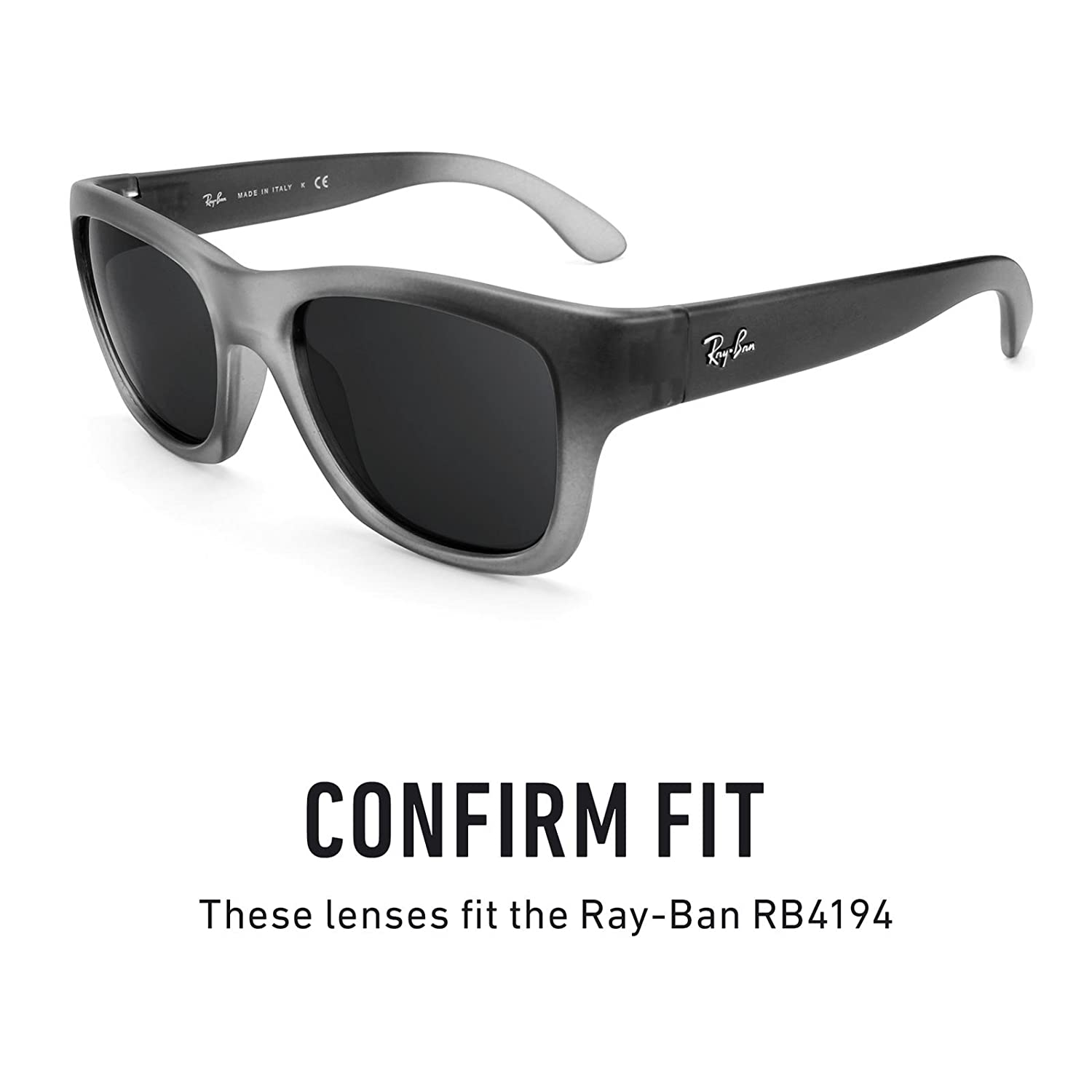 af5d0ea04f Revant Polarized Replacement Lenses for Ray-Ban RB4194 Elite Black Chrome  MirrorShield®  Amazon.co.uk  Clothing