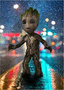DIY 5D Diamond Painting Full Drill Kit for Kids & Adults,Hero Baby Groot Crystal Rhinestone Diamond Embroidery Pictures Arts Craft for Home Wall Decor,Groot Crystal Diamond Art Kit 15.7X11.8in