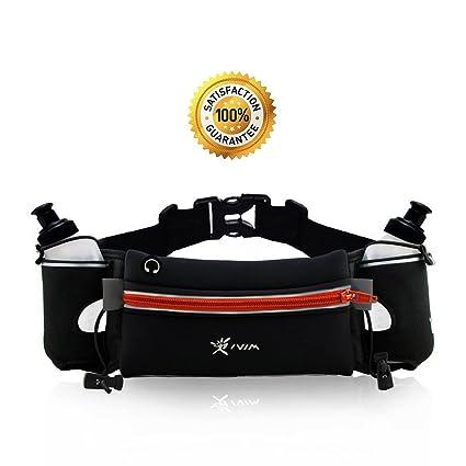 Cinturón deportivo para correr (con dos botellas sin BPA de 280 ml ... 4e07f0a79d19
