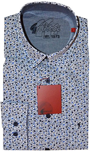 Gabicci - Camisa casual - cuello tab - para hombre