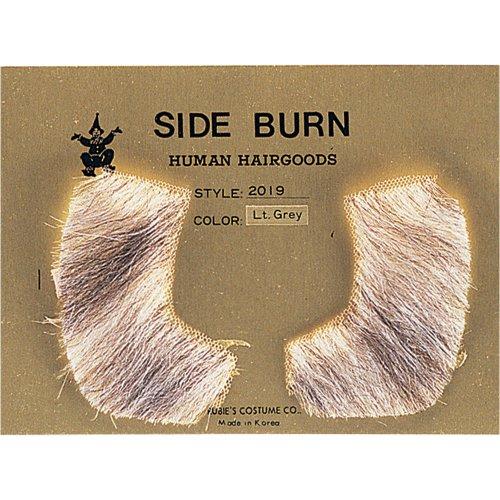 HUMAN HAIR SIDEBURNS, MEDIUM BROWN -