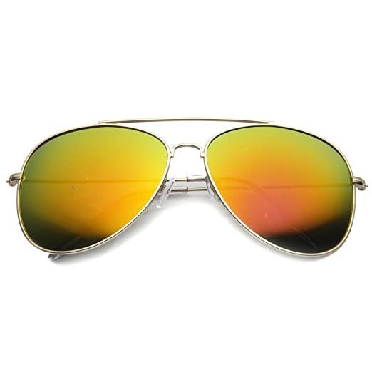 596404691 Amazon.com: Oversize Large Teardrop Color Mirrored Lens Mod Aviator  Sunglasses 60mm (Gold/Fire): Clothing