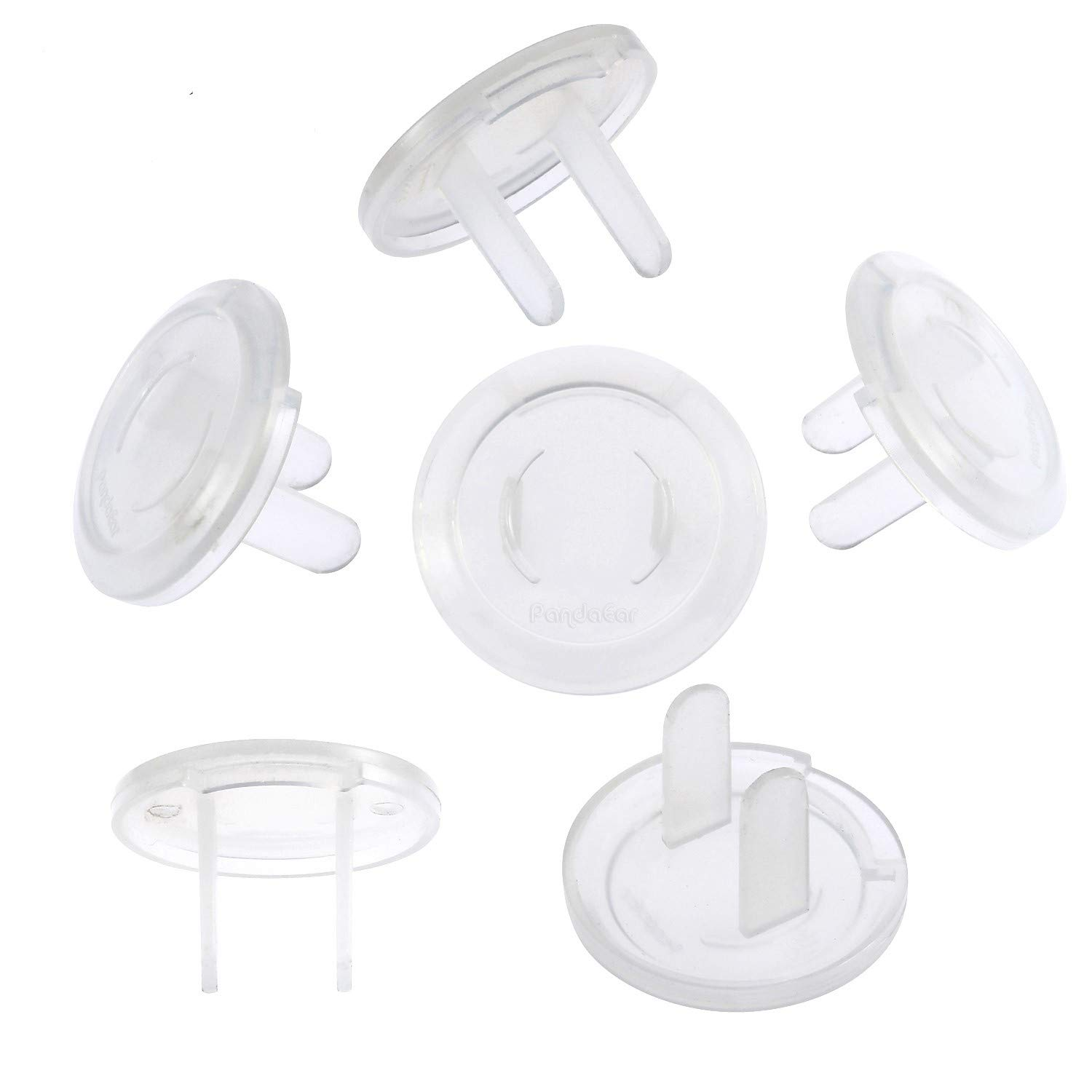 PandaEar Outlet Plug Covers(52 Pack) Clear Child Proof Electrical Protector Safety Caps with Adult Easy Release Concave Design