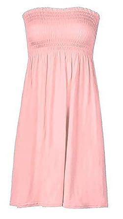 161e04a694 Mix lot New Women's Sheering Boobtube Bandeau Strapless/Sleeveless Plain  top Ladies Sexy Summer Beach Dress top Small Medium Plus Size Casual wear  Size 16- ...