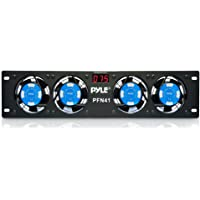 """Pyle-Pro PFN41 19"""" Rack Mount Cooling Fan System W/Temperature Display"""