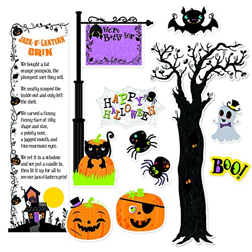 Creative Teaching Press Mini Bulletin Board, Happy Halloween (6980) (Pumpkin Cut Outs Halloween)