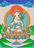 Tibetan Buddhist Goddess White Tara - Tibetan Thangka Painting