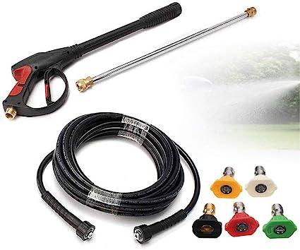 3000PSI High Pressure Power Car Washer Spray Gun Nozzle Tip Hose Wand Lance Kits