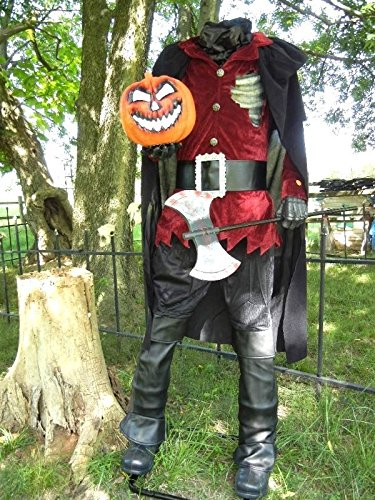 Lifesize Headless Horseman Display Halloween Prop Lights Up Makes Sounds ()