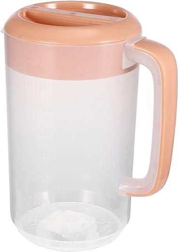 إبريق إبريق مياه YARNOW للمياه الباردة زجاجة مياه بلاستيكية للمياه عصير الحليب والشاي المثلج مع مقياس 4000 مل