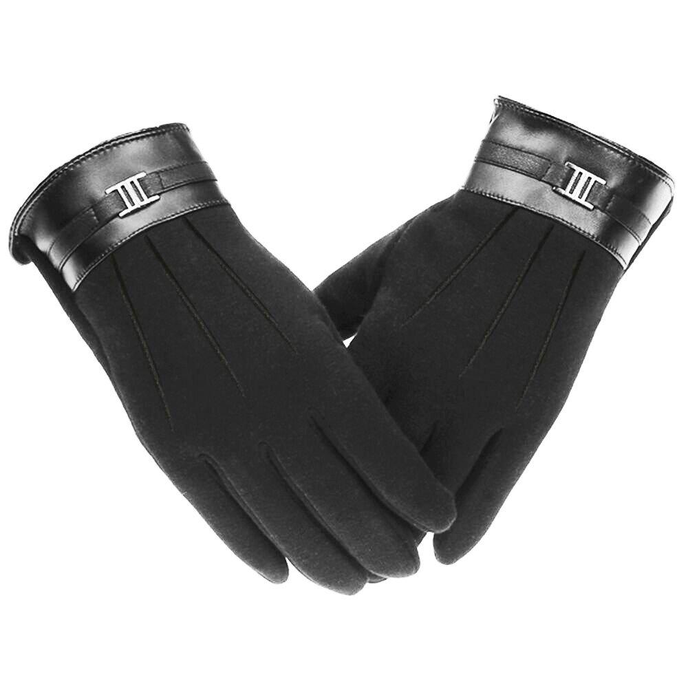 【同梱不可】 Homearda メンズ サイクリング メンズ タッチスクリーン手袋 ウィンターウォーマー ブラック スポーツ アウトドア サイクリング 防風 手袋 ブラック B077M5XZPS, グルメコングストリート:efe83608 --- agiven.com
