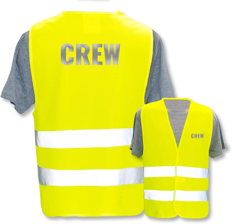 Gr/ö/ße: Gelb * Farbe * Thema Sicherheit und Team * Farbiger oder Reflektierender Druck Reflektierend XL//XXL Hochwertige Warnweste mit Leuchtstreifen * Bedruckt mit: Ordner
