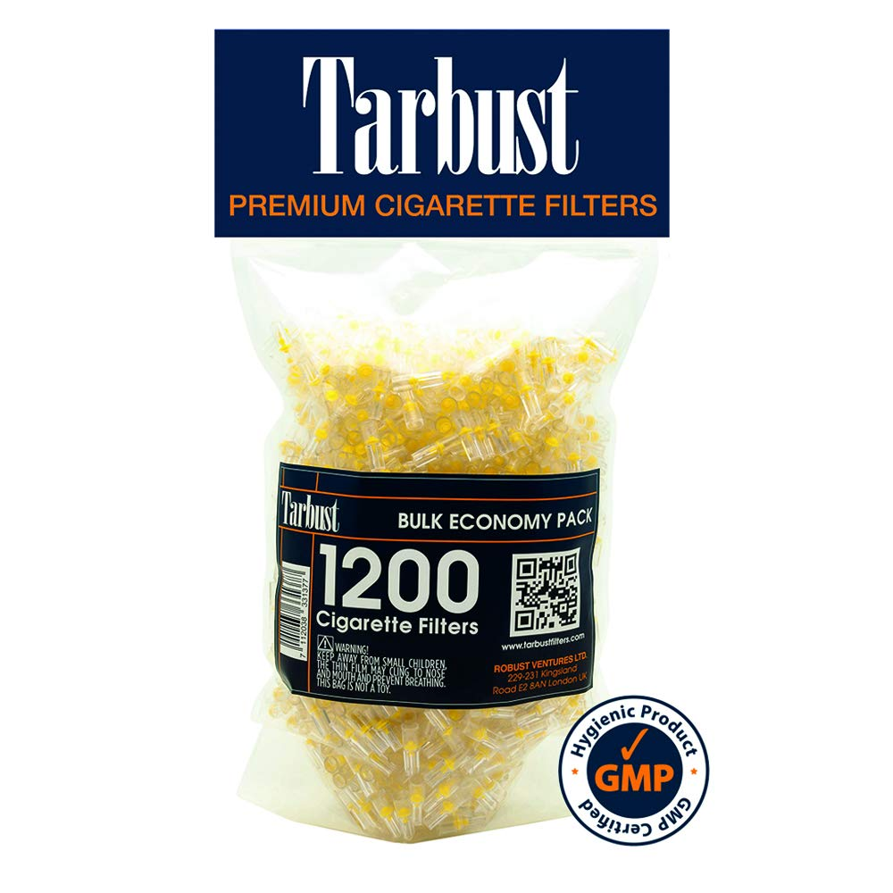 TarBust Disposable Cigarette Filters Bulk Economy Pack, 1200 Per Pack