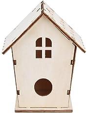 Gusspower Mini Casa de Pájaros Montado en la Pared Nido de pájaro de Madera al Aire