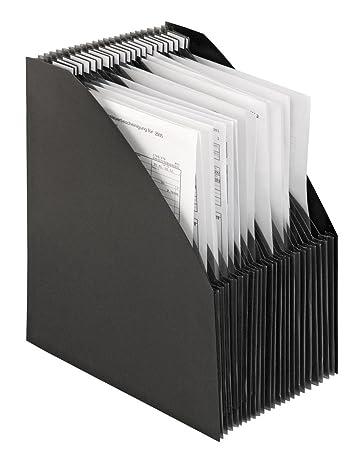 Stehsammler quer  Stehsammler-Fächerbox A4 Schwarz: Amazon.de: Bürobedarf & Schreibwaren