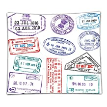 Nalahome Fleece Throw Blanket a collection of highly detailed passport stamps all inspired from real passport stamps but 84121450 59 x 59 Inches