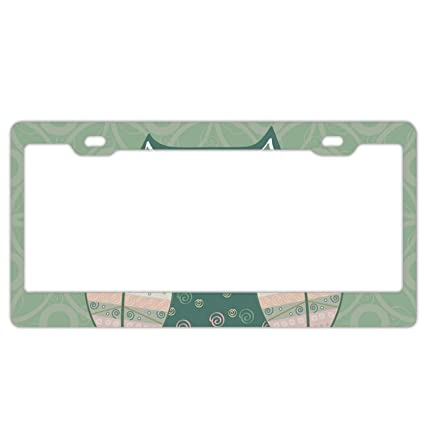 Protected By Owls License Plate Frame Tag Holder