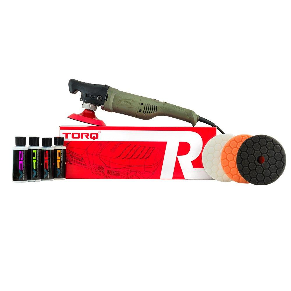 Torq BUF504X TORQR Precision Power Rotary Polisher Kit (9 Items), 4. Fluid_Ounces, 9 Pack