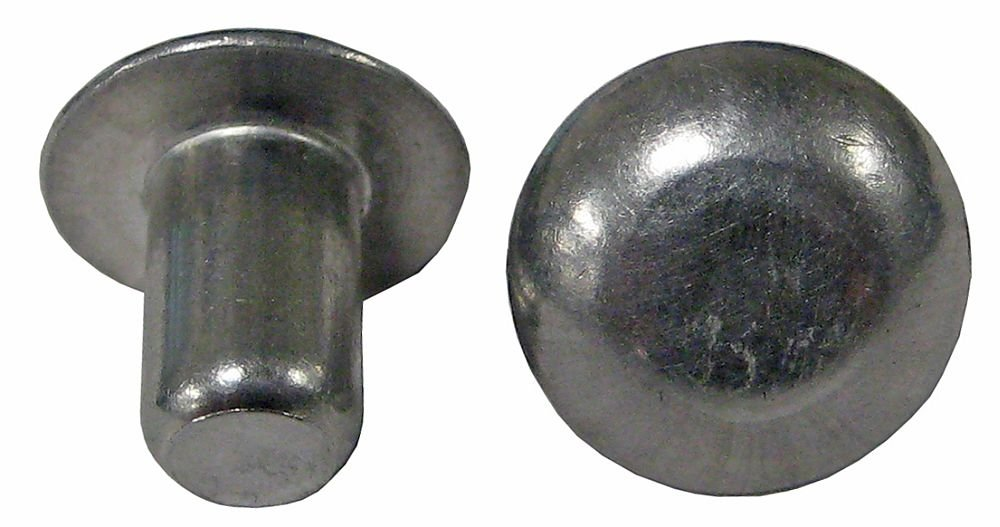 AN470-A8-4P (1/4 X 1/4) SOLID 1100F ALUMINUM RIVET, UNIVERSAL HEAD, PLAIN FINISH, NO HEAD MARKINGS (PACK OF 1 LB - APPROXIMATELY 394 PIECES )