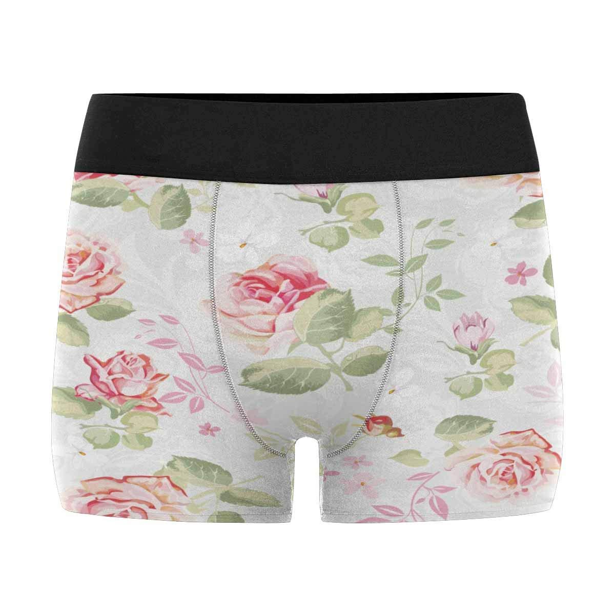 XS-3XL INTERESTPRINT Mens Boxer Briefs Underwear Abstract Elegance Seamless Floral