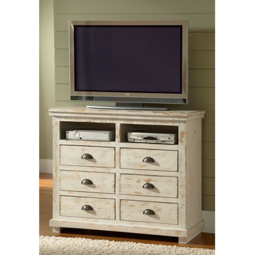 Amazon.com: Progressive Furniture Willow Media Chest, Distressed White:  Kitchen U0026 Dining