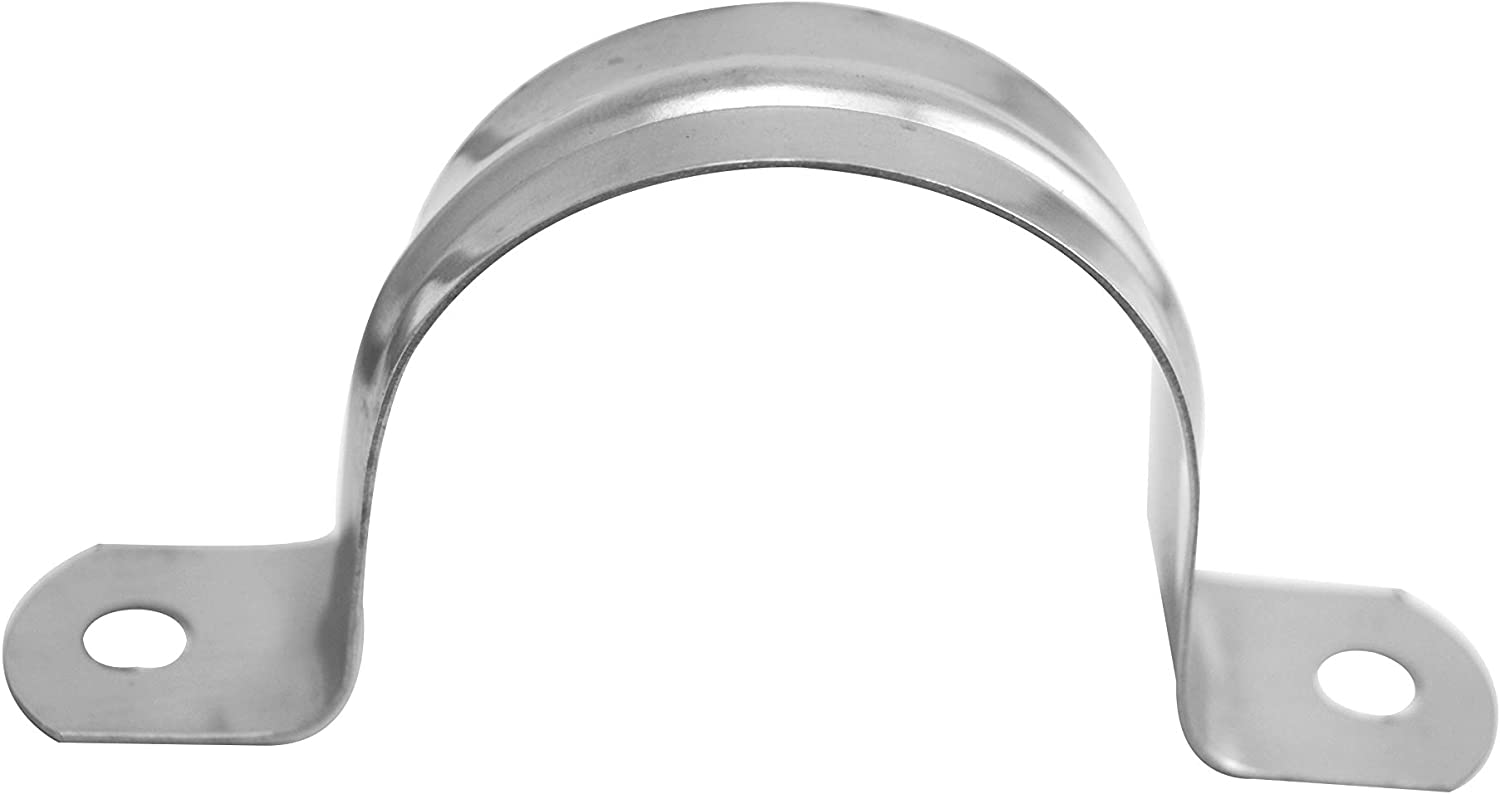 Wuuycoky /Φ25 201 Stainless Steel Two Hole Pipe Strap Clip for 25mm Diameter Tube Pack of 10