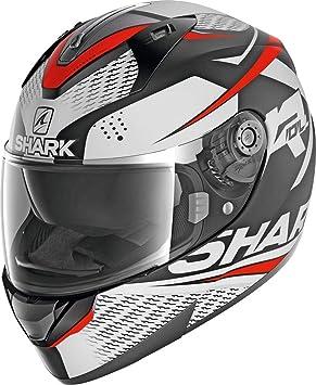Amazon.es: SHARK NC Casco per Moto, Hombre, Negro/Blanco/Rojo, M