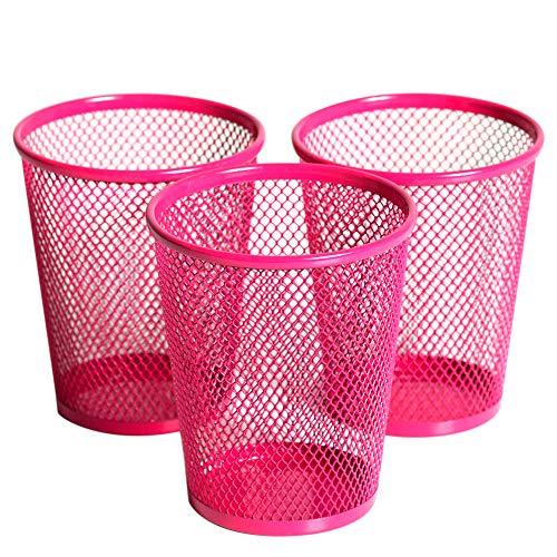 - Klickpick Office Metal mesh Steel Pencil Holder for Multiple use (Pink, Pack of 3)