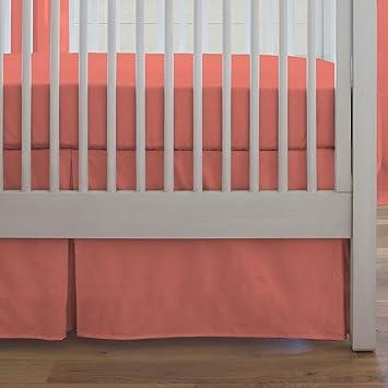Carousel Designs Solid Pink Crib Skirt Box Pleat 14-Inch Length