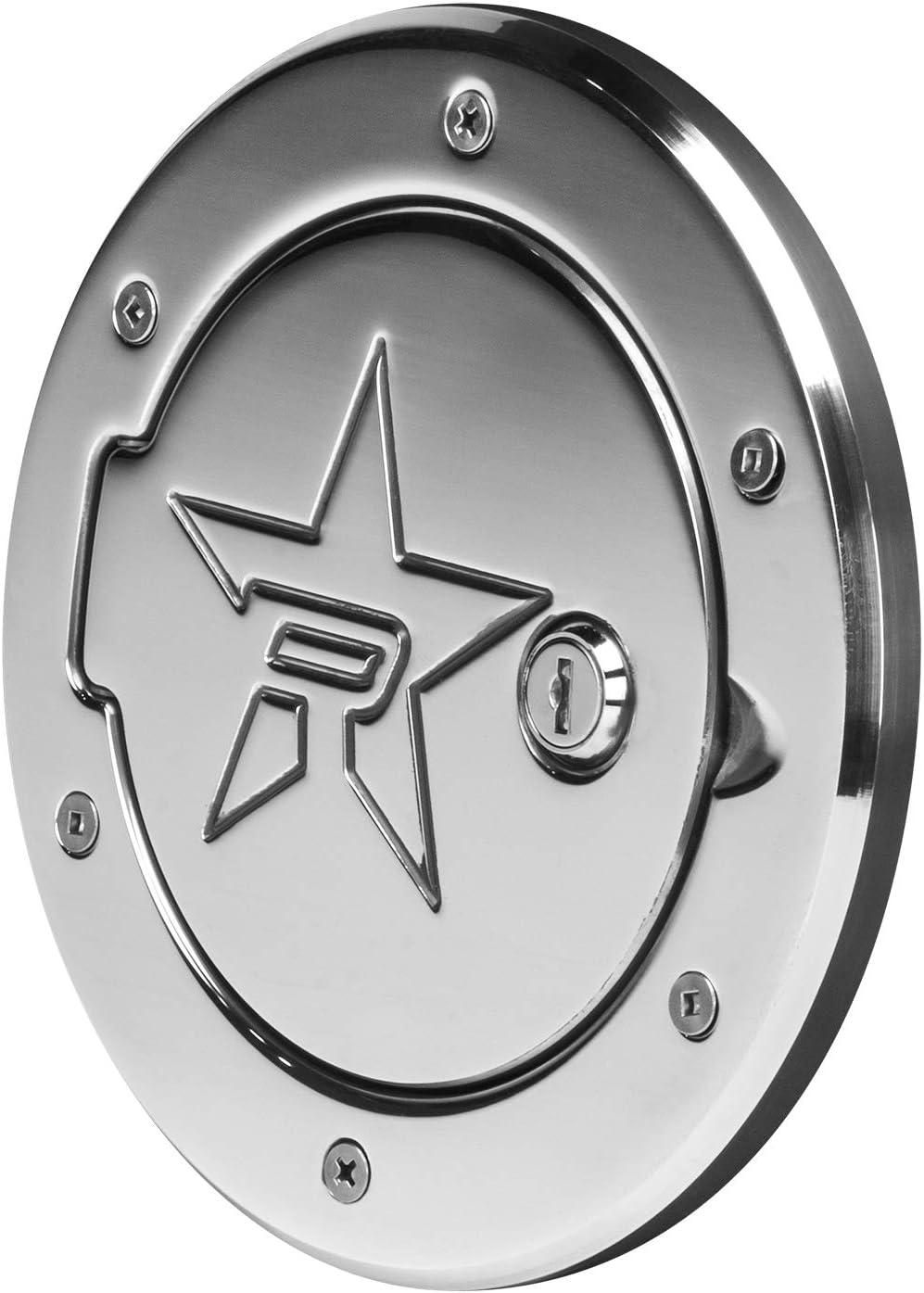 RBP RX-2 Polished Aluminum Locking Fuel Door