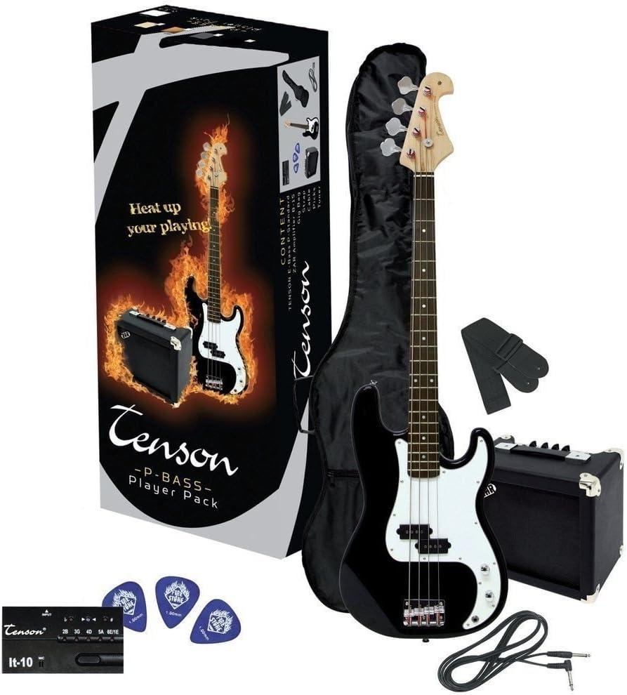 Tenson F502570 - Pack de bajo eléctrico RCB-100, color negro: Amazon.es: Instrumentos musicales