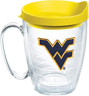 8c9c3925fda Tervis 1062378 West Virginia Mountaineers Logo Tumbler with Emblem and  Yellow Lid 16oz Mug, Clear